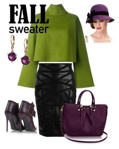 Plum fool for Fall by shefoundu on Polyvore featuring polyvore, fashion, style, Bally, Versace, Gianmarco Lorenzi, Kate Spade and clothing