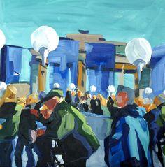 """Berlin II"" Oil/Canvas, 50 x 50 cm Berlin, Paintings, Oil, Canvas, Tela, Paint, Painting Art, Canvases, Draw"