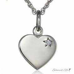 Anhänger Herz mit Zirkonia aus 925 Silber inkl....