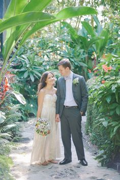 Newlyweds amongst the gardens at the Sundy House.   Shea Christine Photography