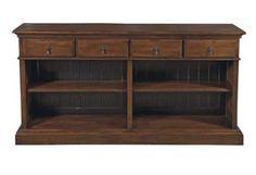 Rustic Bookcase Sofa Table