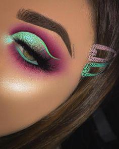 Makeup Eye Looks, Beautiful Eye Makeup, Eye Makeup Art, Cute Makeup, Glam Makeup, Eyeshadow Makeup, Makeup Inspo, Makeup Ideas, Eyeshadows