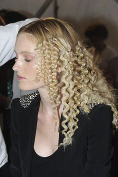 Melissa Cauchi Hairdressing inspiration  runway Backstage at Reem Acra