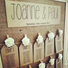 Another table plan idea from the vow.