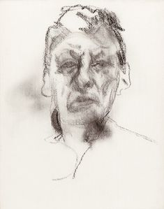 Lucien Freud.- Self Portrait at Lucian Freud Drawings, London exhibition