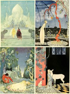 Old French Fairy Tales, written by Comtesse De Segur, illustrated by Virginia Frances Sterrett. The 20 Most Beautiful Children's Books of All Time. Harry Clarke, Alphonse Mucha, Most Beautiful Child, Beautiful Children, Art And Illustration, Fairy Tale Illustrations, Fashion Illustrations, Klimt, Fantasy Kunst