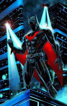 Batman Beyond Art by Eric Ninaltowski Batman Do Futuro, Catwoman, Batgirl, Dc Comics Characters, Heróis Da Dc Comics, Batman Universe, Dc Universe, Batman The Dark Knight, Batman Gotham Knight