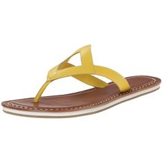 Diamond shape design.  Thong style wear.  Lined with leather.  Cushioned leather footbed.  Rubber outsole.  Made in Brazil.