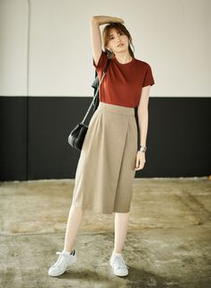 130 lovable long skirt outfits ideas - page 8 fashion trends Long Skirt Outfits, Modest Outfits, Simple Outfits, Modest Fashion, Fashion Dresses, Casual Outfits, Long Skirt Fashion, Dress Outfits, Fall Outfits