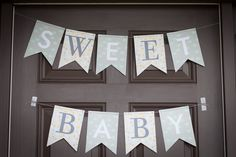 Sweet baby shower banner - #babyshower #partydecor