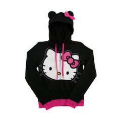 Womens Hello Kitty Hoodie, Black Pink | Journeys Shoes