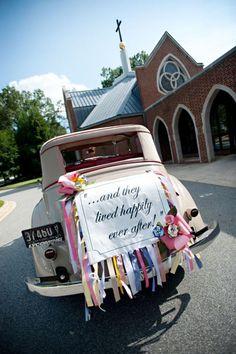 www.weddbook.com everything about wedding ♥ Wedding Car Decorations #car #wedding #photo