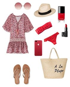 """To the beach.."" by alessandra-fly on Polyvore featuring moda, Rebecca Minkoff, Aéropostale, Joie, Chanel, NARS Cosmetics, H&M, Roxy e Linda Farrow"