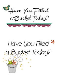 Desert Hills Relief Society: Fill Your Bucket