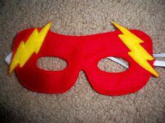 Felt Superhero Mask  Flash Costume by OurCozyCreations on Etsy, $5.00