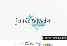 Instant Download Photoshop Logo Watercolor Logo by TheParisWife