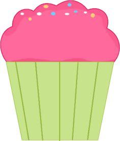 Pink Cupcake Clip Art - Pink Cupcake Image
