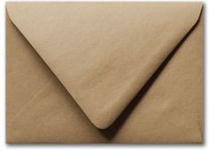 "A-7 Brown Kraft Recycled Euro Flap Envelopes (5 1/4"" x 7 1/4"")"