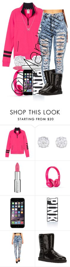 """""""No school"""" by trill-forlife ❤ liked on Polyvore featuring Victoria's Secret PINK, Givenchy, Beats by Dr. Dre, UGG Australia and KC Designs"""
