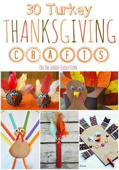 30 Turkey Thanksgiving Children's Craft | The Jenny Evolution  #thanksgiving #turkey #craft