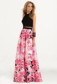 Floral Print Prom Dress for Prom 2016  #camillelavie #CLVprom