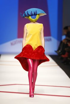 Look a cyclops on the runway... [Yossi Dina Beverly Hills]