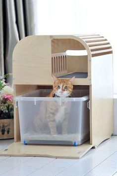 Camada Litterbox For Your Cat - cat things - Cat Litter Cabinet, Litter Box, Modern Cat Furniture, Cat Exercise, F2 Savannah Cat, Animal Room, Outdoor Cats, Cat Toys, Drawer