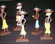 *♥* Julia-arte*♥* - ◘Varios Candle Holders, Candles, Porta Velas, Porcelain Ceramics, Art, Candy, Candle Sticks, Candlesticks, Candle