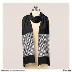 Shimmer Scarf #blackandwhite #fashion #style #retro #scarf #gifts