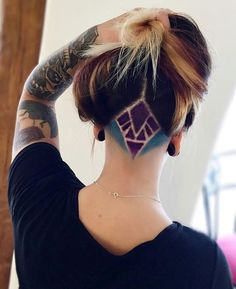 awesome nape undercut hair design ombrehair