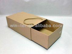 Brown kraft paper shoe box with drawer WT-PBX-462