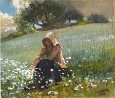 Girl and Daisies, Winslow Homer 1878  To capture a moment in someone's life and have it be so timeless....it never really gets old
