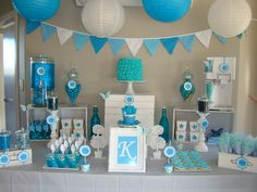 Blue Themed Candy & Dessert Table