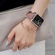 For Apple Watch Band Size Small. A definite must have! Stylish Watches, Cool Watches, Watches For Men, Apple Watches For Women, Wrist Watches, Apple Watch Fashion, Apple Watch Accessories, Accesorios Casual, Apple Watch Series 3