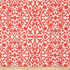 Premier Prints Seville Macon Salmon from Screen printed on cotton duck; this versatile medium… Pillow Fabric, Wall Fabric, Coral Fabric, Kitchen Fabric, Premier Prints, Seville, Fabric Patterns, Wall Design, Fabric Design