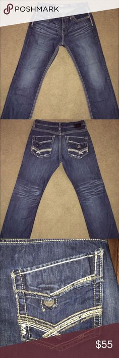NWOT Men's BKE Jeans 34 W x 34 L Bought these for my husband who is normally either a 34 or 36 but they must be a slightly slimmer fit, as they were a little too snug. Perfect condition! Buckle Jeans Straight