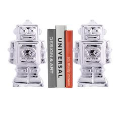 Robot Bookends, for the books I own but don't read.