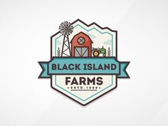 Black Island Farms logo.