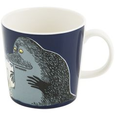 Iittala Moomin Mug - The Groke ($25) ❤ liked on Polyvore featuring home, kitchen & dining, drinkware, black, iittala mugs, ceramic tea cups, black ceramic mug, tea mug and tea cup