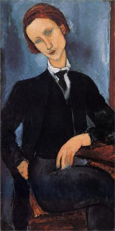 Portrait of Pierre Edouard Baranowski , 1918 by Amedeo Modigliani (Italian 1884-1920)....does anyone know who Baranowski was?....Any fan of Modigliani would find Andre Salmon's memoir of him, published in 1957, of interest. Salmon was a close friend, and his book is full of intimate detail on Modigliani and his circle.
