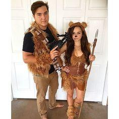 Couple Ewok costumes