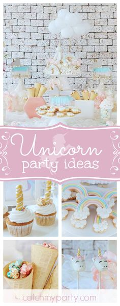 Take a look at this gorgeous Unicorn Fiesta. The rainbow cookies are adorable!! See more party ideas and share yours at CatchMyParty.com