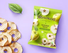 Yablokov on Packaging of the World - Creative Package Design Gallery Apple Packaging, Chip Packaging, Packaging Snack, Pouch Packaging, Candy Packaging, Food Packaging Design, Packaging Design Inspiration, Dried Apple Chips, Organic Chips