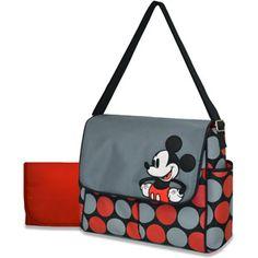 Disney Mickey Mouse Messenger Diaper Bag