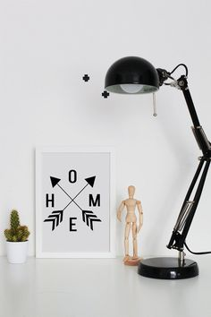 HOME Printable Wall Art  Typographic Print  Arrow by VisualPixie