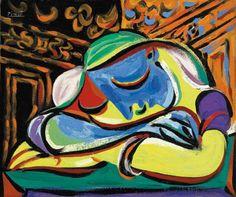 """Pablo Picasso: """"Jeune fille endormie,"""" 1935."""