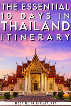 Find your ULTIMATE 10 Day Thailand Itinerary, four tried 10 Days In Thailand, Thailand Vacation, Thailand Travel Tips, Visit Thailand, Asia Travel, Places In Usa, Backpacking Asia, Travel Route, Travel Reviews