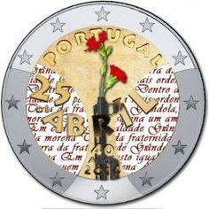 2 eurouro Portogallo 2015 Piece Euro, Portugal Euro, Euro Coins, Gold Stock, Commemorative Coins, World Coins, Coin Collecting, Clock, Investing