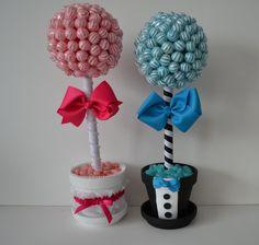 Small Lollipop Bride and Groom Topiary Pink and by EdibleWeddings, $69.99