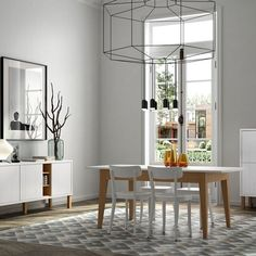 Niche with Pattern Collection / Cupboard, Sideboard and Dining Table : Serviesgoed & glaswerk van Temahome Cool Furniture, Modern Furniture, Table Accessories, Black Lamps, Best Dining, Dining Table Chairs, Home Living, Dining Room Design, Grey Walls